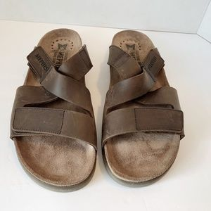 Mephisto Men's NADEO 45 US 11 Brown Leather Slides